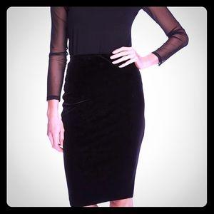 Dressy Black velvet Pencil skirt NWT size Med